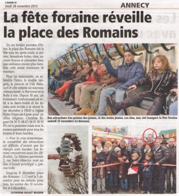 presse,dauphine,fete,foraine,inauguration,tardy,annecy