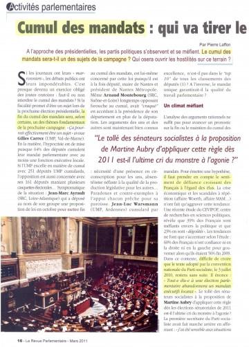 presse,la revue parlementaire,cumul,mandat,lionel tardy