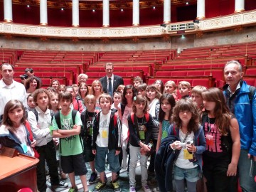 doussard,assemblee nationale,parlement des enfants,parlement,visiste,ecole,enfant