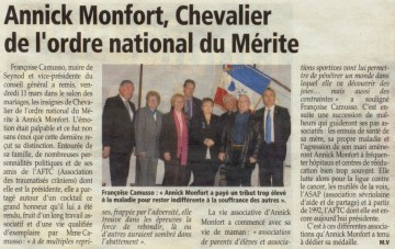 seynod,decoration,medaille ordre national du merite,annick monfort