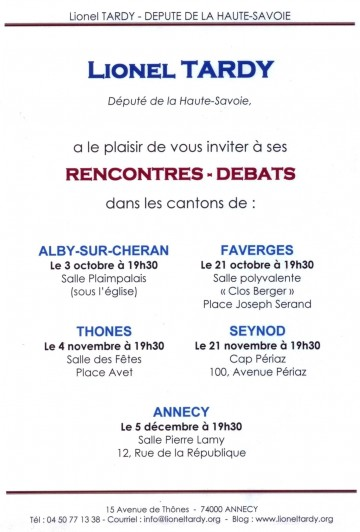 reunion publique,reunion,canton,lionel tardy,alby-sur-cheran,thones,faverges,seynod