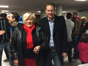 Avec Michèle, ma colistière, à la veillée d'autrefois au Bouchet Mont Charvin, organisée par le Sou des écoles 1.jpg