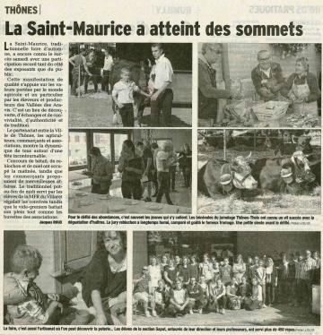 thones,foire saint-maurice,haute-savoie