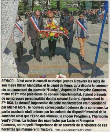 seynod,commemoration,ceremonie,8 mai 1945,haute-savoie