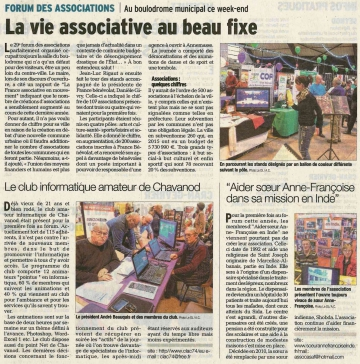 presse,dauphine,annecy,forum des associations,boulodrome,parc des sports