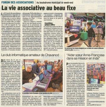 presse,dauphine,annecy,forum des associations,boulodrome,parc des sports