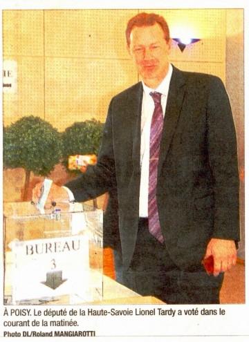 presse,dauphine,presidentielles 2012,haute-savoie,2eme circonscription,lionel tardy,thones,faverges,seynod,alby-sur-cheran,annecy