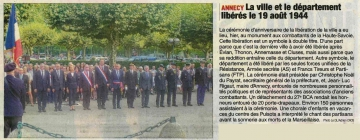 annecy,71eme anniversaire,liberation
