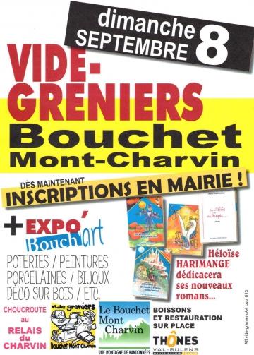 bouchet-mont-charvin,bouch'art,vide grenier,expostion,haute-savoie