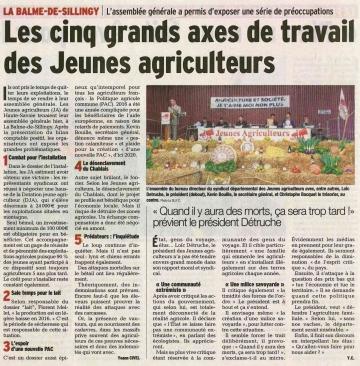 assemblee generale,jeunes agriculteurs,signature,charte,agriculture haut-savoyarde,haute-savoie,la balme de sillingy
