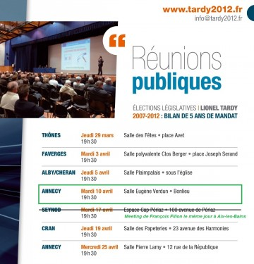 annecy,legislatives 2012,tractage,reunion publique,lionel tardy