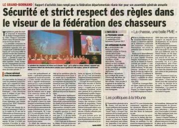 grand-bornand,assemblee generale,federation des chasseurs,haute-savoie,andre mugnier
