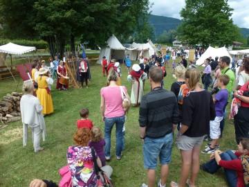 saint-jorioz,campement,moyen age,medieval,fete,inauguration