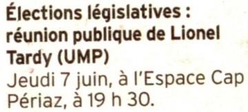 seynod,elections législatives 2012,lionel tardy,reunions publiques