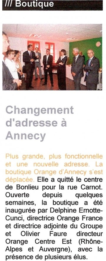 annecy,orange,france telecom,inauguration,telephone,internet,fai