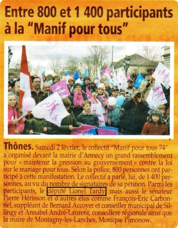 presse,dauphine,annecy,manifestation,mariage,mariage pour tous,assemblee,loi