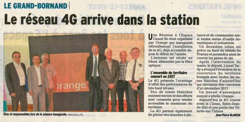 Grand bornand lancement de la 4g lionel tardy for 4g haute savoie