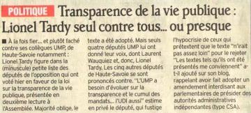 loi,conflit d'interet,patrimoine,declaration,transparence,politique,transparence financiere