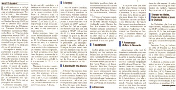 presse,dauphine,elections presidentielles 2012,resultats,2eme circonscription,annecy