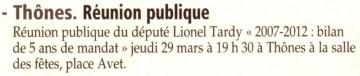 thones,reunion publique,legislatives 2012,bilan