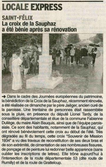 saint-felix,inauguration,croix,haute-savoie