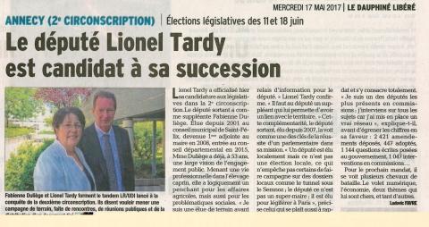 tardy,duliege,annecy,interview,presse,legislatives 2017