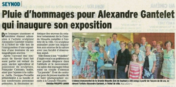 seynod,inauguration,exposition,sculpture,alexandre gantelet