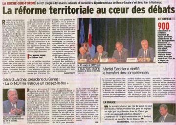 la roche-sur-foron,83eme congrès departemental des maires,haute-savoie