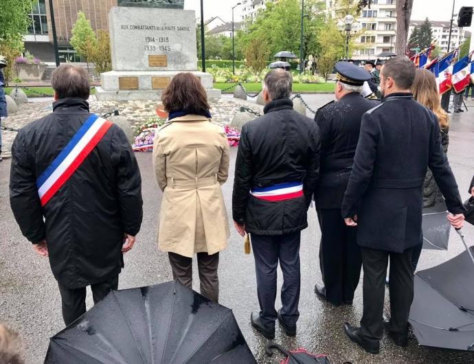 annecy,ceremonie,8 mai 1945,armistice,monument,27eme BCAguerre,resistant,tardy