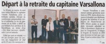 seynod,prese,dauphine,retraite,commandant,gendarmerie