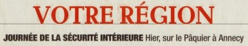 presse,dauphine,annecy,securite,prefecture,gendarme,pompier,securite civile