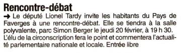 faverges,rencontre debat,lionel tardy,ump 74,militants,public,2ème circonscription
