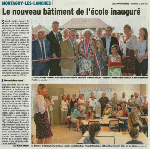 montagny-les-lanches,inauguration,extension,ecole publique,terrain multisports,haute-savoie