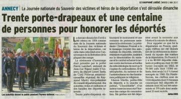 annecy,ceremonie,commemoration,journee nationale,souvenir,victimes,heros,deportation,haute-savoie