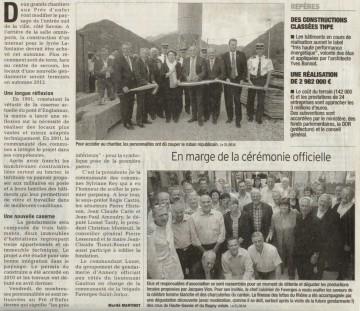 faverges,gendarmerie,construction,batiment,premiere pierre